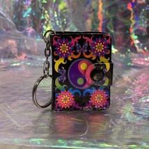 V Nice Lisa Frank Dream Writers Mini Notebook Keychain Yin Yang ☯️ 90s