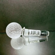 "1 (One) MIKASA TEE TIME Lead Crystal Bottle Stopper 4 1/4"" Tall Golf Ball - $19.94"