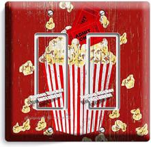 Pop Corn Tv Room Home Movie Theater Rustic 2 Gang Gfci Light Switch Plates Decor - $11.69