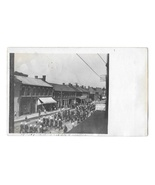 RPPC Small Town Parade Business Signs Pmk Dundee Ohio Vntg Real Photo Po... - $9.95