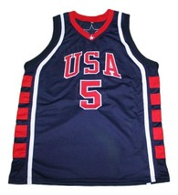 Stephon Marbury Team USA Basketball Jersey Sewn Navy Blue Any Size image 1