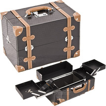 Black Square and Brown Trimming 2-Tiers Easy Slide Trays Professional Co... - $69.99