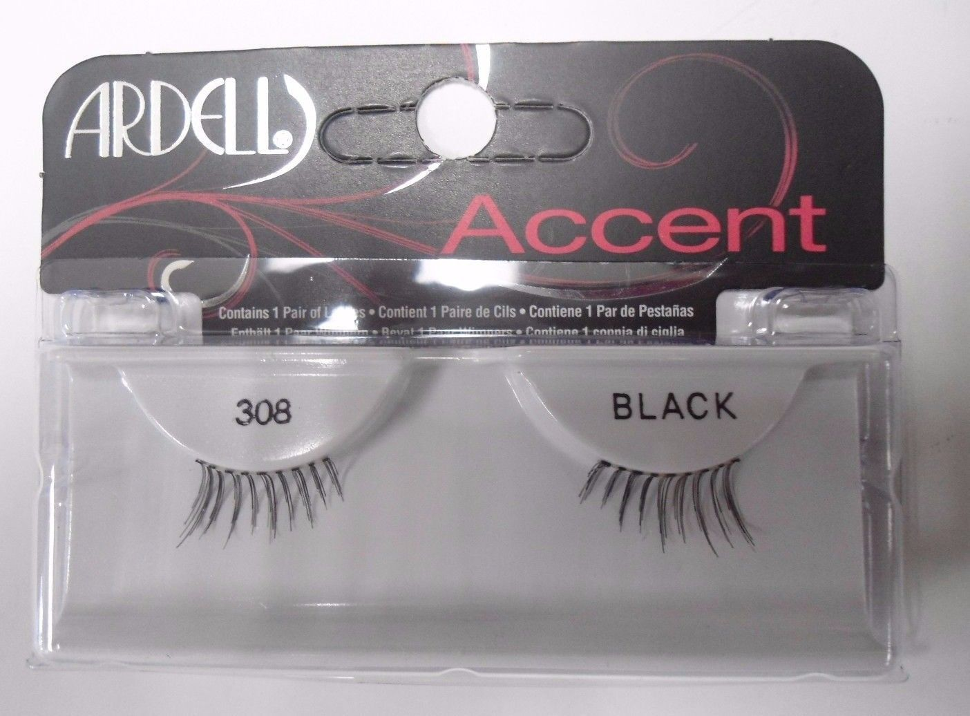Primary image for Ardell Strip Lashes Fashion Accent 308 Black (Pack of 4)