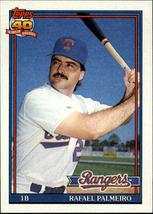 1991 Topps #295 Rafael Palmeiro - Baseball Card Texas Rangers - NM - $0.40