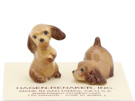 Hagen Renaker Miniature Dog Cocker Spaniel Puppies Playing Figurine Set