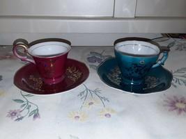 Chugai China; 2 Sets teacup Saucer made in Japan - $29.70