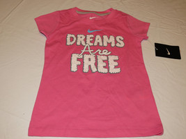 Nike active t shirt youth girls 2T 261809 AA7 pinksicle Dreams are Free ... - $11.97