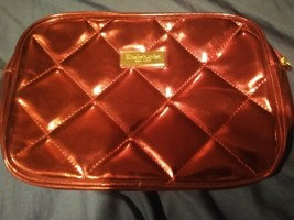 NEW Elizabeth Arden Quilted Shiny Metallic RED Cosmetic Makeup Bag - NWOT - $5.99