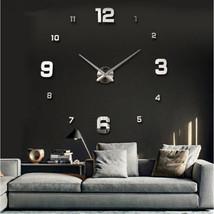 3d Acrylic Mirror Large Home Quartz Wall Clock - $49.95