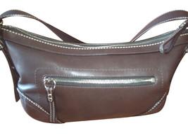 Coach Dark Brown Leather East/West Crossbody Bag 14700 - $742,05 MXN