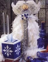 Winter Wonderland Angel & Tissue Cover Plastic Canvas Pattern Leaflet - $1.77