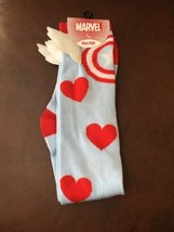 Captain America Knee-High socks size 9-11 DC Comics Valentines Cupid Win... - $14.84