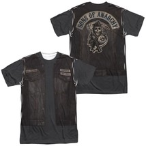 Sons of Anarchy Juice Leather Vest Jacket Costume Outfit Uniform Allover T-shirt - $30.99+
