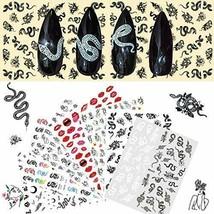 8 Sheets Snake Pattern self-Adhesive Nail Art Stickers (Fashion Series) - $17.84