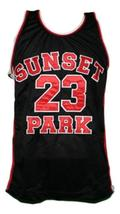 Busy-Bee #23 Sunset Park Movie Basketball Jersey New Sewn Black Any Size image 4