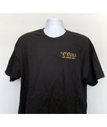 Cristall Ultra Premium Vodka T Shirt Mens XL Embroidered Gold Logo Black... - $21.73
