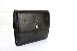 Authentic LOUIS VUITTON Monogram Vernis Black Elise W Hook Bifold Wallet Purse  - $108.90