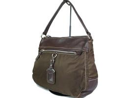 Authentic PRADA Nylon Canvas Khaki Shoulder Bag PS14047L - $210.00