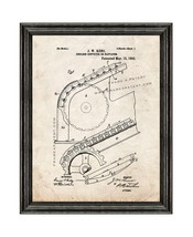 Escalator Patent Print Old Look with Black Wood Frame - $24.95+