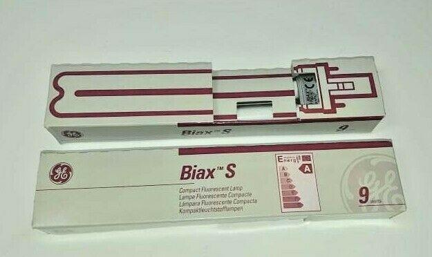 GE Biax S 9 Watt Compact Fluorescent Lamp Bulb Lot of 2 NEW General Electric - $12.82