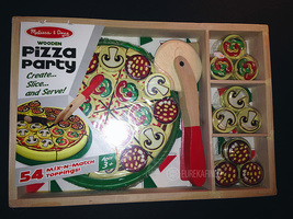 Melissa & Doug Wooden Pizza Party 54 Mix-n-Match Toppings Set (MPN 167) New - $14.99