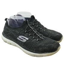 Skechers Dual Lite Womens Sz 10 Gray Bungee Flex Appeal 2.0 Slip-On Snea... - $26.72