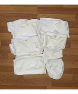 Lot blanks baby clothes bodysuit, bib, burpcloth, bloomers 100% cotton - $188.10