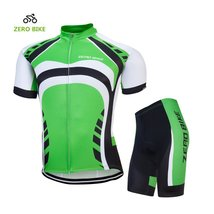 ZEROBIKE Men's Polyester Short Sleeve Cycling Clothing Breathable Cycling Set Sp - $29.69