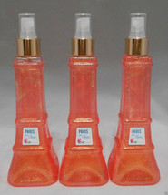 3 Bath & Body Works Signature Shimmer Mist spray PARIS IN BLOOM Eiffel Tower NEW - $28.49
