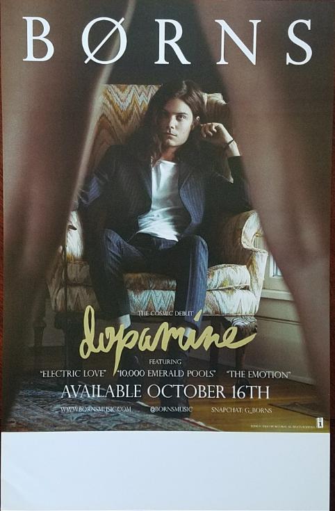 "BORNS ""Dopamine"" Double Sided Promo Poster 11"" x 17"""
