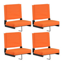 """""""Flash Furniture Game Day Seats with Ultra-Padded Seat, Orange, Pack of 4"""" - $211.69"""