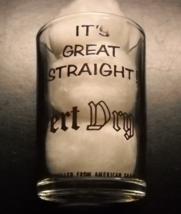 Hazel Atlas Calvert Dry Gin Shot Glass Double Size Black Print Measurement Level - $14.99