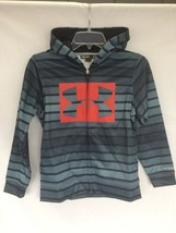 Boys Under Armour 1239284 Armour Fleece Storm Printed Full Zip Hoodie Bl... - $29.69