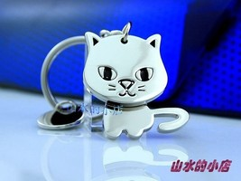 10pcs/lot,Creative Funny Gift,Nice Moving Lovely Cat Keychain Keyring Ke... - $28.97