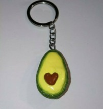 Cute Avocado Keychain Clay Fob Accessory Keyring Charms Avocado - $7.00