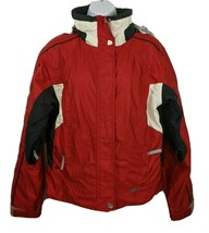 Marker Waterproof Hooded Womens Ski Snowboard Jacket Coat Red Black Size 10 - $66.83