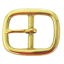 "Set Of 16 Hilason Western Leather Brass Plated Horse Tack Center Bar Buckle 1"" U - $32.66"