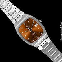 1980 Omega Seamaster Vintage Copper Brown Dial Mens Ss Watch - Mint w/ Warranty - $975.10