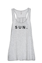 Thread Tank Sun. Sunday Women's Sleeveless Flowy Racerback Tank Top Spor... - $24.99+