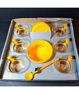 Bodum Set 14 pc Tangerine Espresso Coffee Cup Saucer Spoon Bowl Star Tre... - $193.05