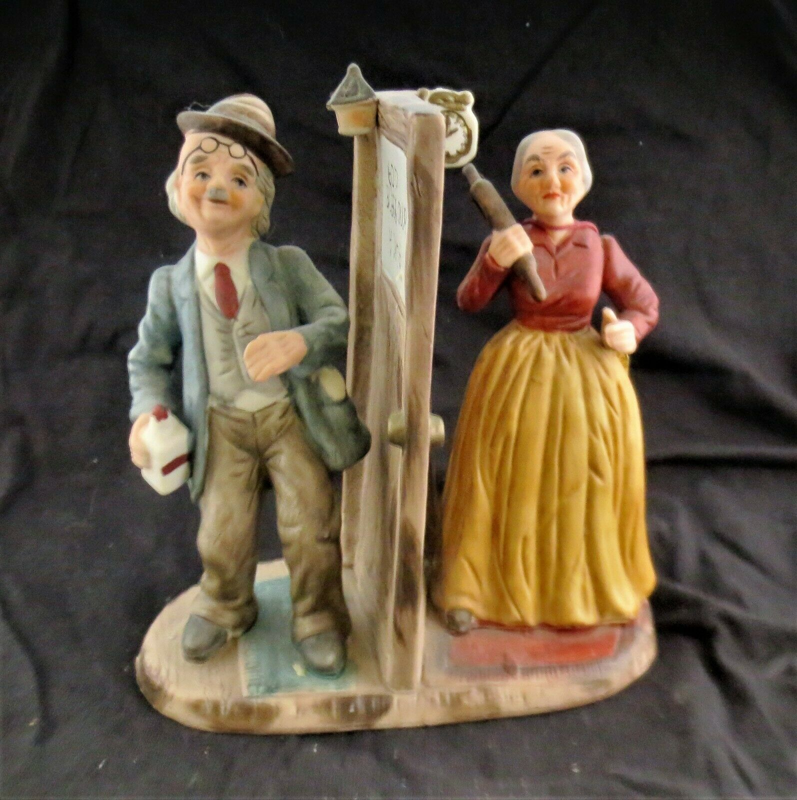 Arnart Figurine Drunk Husband Wife with Rolling Pin