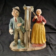 Arnart Figurine Drunk Husband Wife with Rolling Pin - $18.69