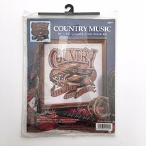 DESIGN WORKS Country Music Till the Day I Die Counted Cross Stitch Kit 14x14 New - $11.60