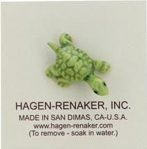 Hagen-Renaker Miniature Ceramic Turtle Figurine Tiny Green Baby Turtle image 5