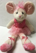 RUSS Berrie Pink Ballerina Mabellina Mouse 20 INCH Stuffed Plush Doll - $27.24
