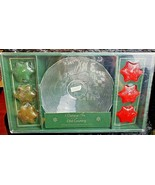 VINTAGE HOLIDAY FLOATING CANDLES WITH GLASS BOWL FROM MONTGOMERY WARDS NEW - $18.80