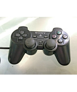 Official OEM Sony Playstation 2 PS2 Dual Shock Controller Black SCPH-10010 - $12.99