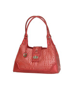 "MC Handbags ""Cindy"" Leather Croco Embossed Rose Hobo Bag - NEW MARKDOWN! - $69.90"