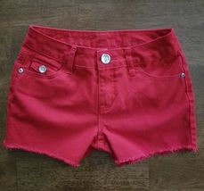 Justice Girls Shorts Size 12 Slim 12S Red Simply Low Cotton - $9.99