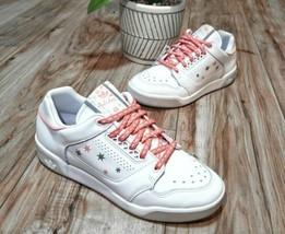 Adidas Slamcourt Womens Size 7 White Leather Shoes - $64.99